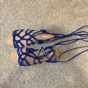 New Blue Strappy Express Sandals